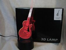 GUITAR LES PAUL 3D LED LIGHT MULTICOLOR COLOR CHANGING LAMP NIGHT LIGHT
