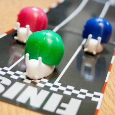3 X RACING SNAILS TABLE TOP RACER  DESK TOP TOY WIND UP FUN SNAIL RACE GAME