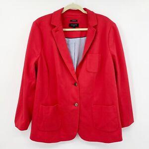 Talbots Aberdeen Solid Red Knit Blazer Size 18W