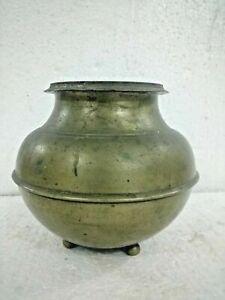Indian vintage vase Big Bronze Unique Heavy Old pot good singing 2 kg