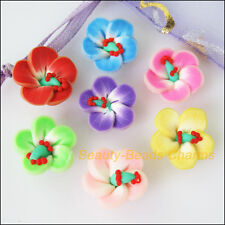 15Pcs Misti Polimero FIMO CLAY Stella Fiore Spacer Beads CHARMS 15mm