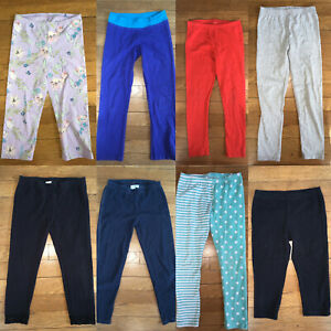 * childrens place blue solid print full length leggings bottoms small medium