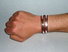 Wickelarmband Nietenarmband Lederarmband braun wrap bracelet leather studs