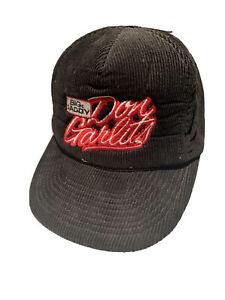 VIntage Don Garlits Big Daddy NHRA Hot Rod Drag Racing Corduroy Hat Cap Snapback