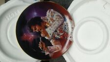 """elvis presley """"the King"""" collector plate by nate giorgio"""