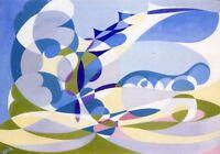 Stampa su Tela Printing on Canvas GIACOMO BALLA Cod 10 cm 70x100 papiarte