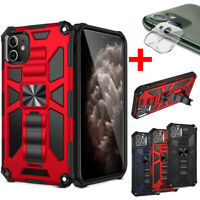 For iPhone 11 Pro Max Rugged Armor Case with Camera Lens Screen Protector Cover