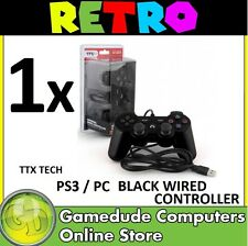 TTX Tech PS3 / PC BLACK Wired Controller MODEL : NXP3-050 (849172004252) [F03]
