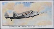 Single: No.4 LOCKHEED 14 SUPER ELECTRA TRANSPORT - SPEED - Wills Ltd 1938