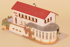 Faller HO Scale #219 Large Hotel Cafe RARE VINTAGE 1950's ISSUE WOODEN BUILDING