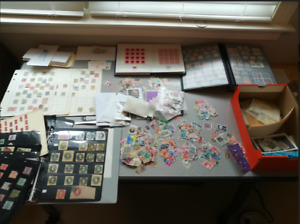 1000000s STAMPS COLLECTION-LOT of 100+ ALBUMS-GLASSINES-MINT-SET-Used-WORLDWIDE