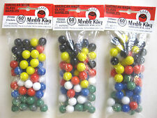 3 pkg. 60 count CHINESE CHECKER GAME MARBLES REPLACEMENT GAME WAHOO AGGRAVATION