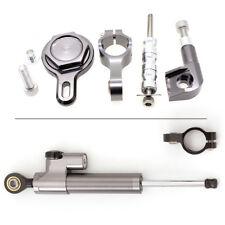 CNC Mounting Steering Damper Stabilizer Brackets Kits For YAMAHA R1 Grey 98-2001