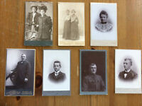 Vintage (Lot 7) Photo Cabinet Men Women Cards Aarhus Denmark