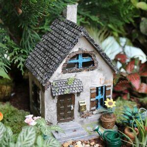 Miniature Fairy Garden House Rustic Resin Fairy Cottage Woodland Fairy Home Mini