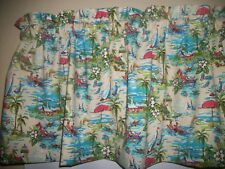 Beach Nautical Island Ocean Lighthouse Sailboat fabric curtain topper Valance