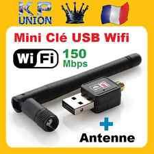 Mini USB-Schlüssel WIFI Adapter Netzwerkkarte 150 Mbit/s +Antenne Win 8,7,Vista,