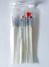 15 Fine Scale Paint Brushes for Small Detail Figure Painting in Storage Sleeve