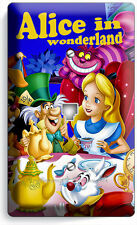 ALICE IN WONDERLAND PHONE JACK TELEPHONE WALL PLATE COVER KIDS BEDROOM ROOM ART