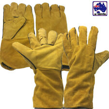 2 Pairs Welding Gloves Leather Cowhide Guard Working Protection TGL000620x2pairs