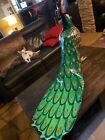 Life-Size Sergio Bustamante Peacock Sculpture