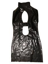 Latex Kleid Schwarz, Gr. XL, Ungetragen