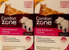 ( 2 ) Comfort Zone Two Room Kit Calming Diffuser For Cats & Kittens New/Fresh