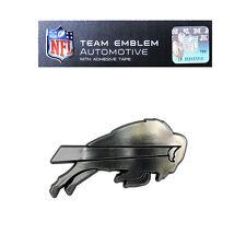 NFL Buffalo Bills Plastic Chrome Emblem Decal Size Aprx. 3 3/4 x 2 inches