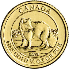 2014 Canada Gold Arctic Fox $10 - 1/4 oz - Bu