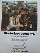 2/1982 PUB AIRBUS A300 A310 AIRLINER THAI AIRWAYS CABIN INTERIOR THAILANDE AD