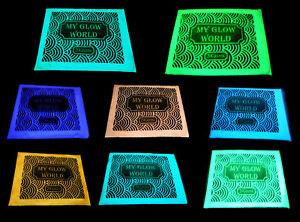Professional Grade 20gram GLOW IN THE DARK Pigment Powder FREE Blue LED Light