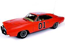 1/18 Autoworld 1969 Dodge Charger Dukes Of Hazzard General Lee Orange Amm964