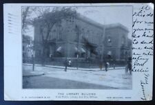 NEW BEDFORD, MASS. C.1905 PC. VIEW OF FREE PUBLIC LUBRARY AND OFFICES