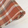 Autumn Orange CHECK Balmoral Wool Effect Tartan Upholstery Curtain Fabric
