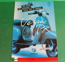 PIAGGIO VESPA PX 125 PX150 PX200 SCOOTER PUBBLICITA DEPLIANT CATALOGO BROCHURE