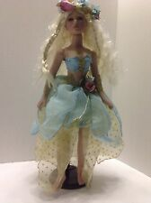 Fairy Angel porcelain doll with stand 19""