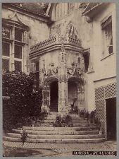 Beauvais France Architecture médiévale Art gothique Vintage albumine ca 1880