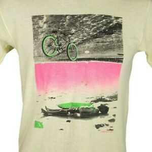 Ocean Pacific OP Surfer T Shirt Vintage 80s Bicycle Cyclist Made In USA Medium