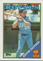 Kevin Seitzer All Star Rookie 1988 Topps Baseball Card #275 Kansas City Royals