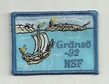 Swedish Sailing Ship Gränsö 92 NSF Nykterhetsrörelsens scoutförbund Scout Patch