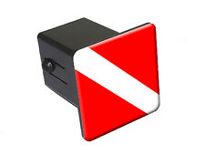 Scuba Diver Flag - Diving - Tow Trailer Hitch Cover Plug Insert Truck