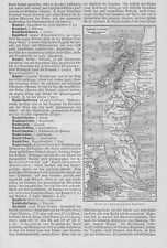 Kapstadt und Umgebung Original Karte von 1897 Südafrika Tafelberg