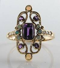 Yellow Gold Amethyst Ring Vintage Fine Jewellery