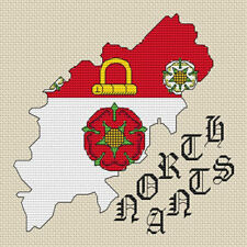 Buckinghamshire Map /& Flag Cross Stitch Design kit or chart