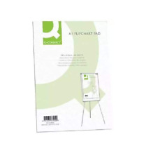 More details for a1 flip chart plain paper pad punched for flipchart easels 40 sheets kf37002