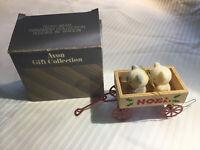 Vintage Avon Teddies in a Wagon Christmas Ornament Free Shipping!