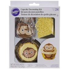 WILTON CHEEKY MONKEY CUPCAKE DECORATING KIT 24 CUPCAKES KIDS BAKING CAKE FUN NEW