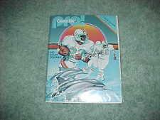 1981 Baltimore Colts v Miami Dolphins Football Program 9/27 Memorial Stadium