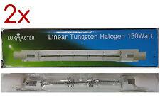 2 x Luxmaster 150W 78mm Tungsten Linear Halogen Light Globe 1000 Hours 240V