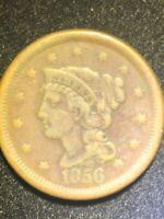 1856 Braided Hair Large Cent slant 5
